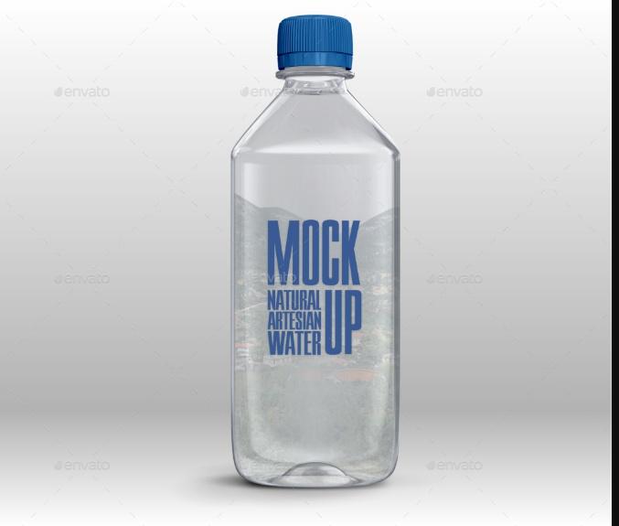 Plastic Water Bottle Mockup PSD