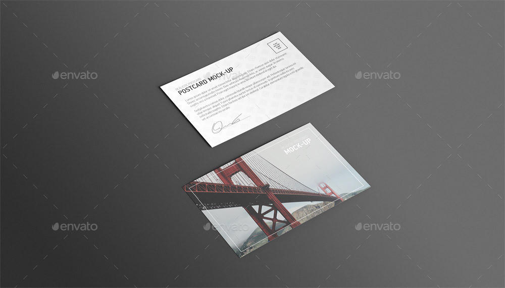 Postcard and Invitation Mockup Template