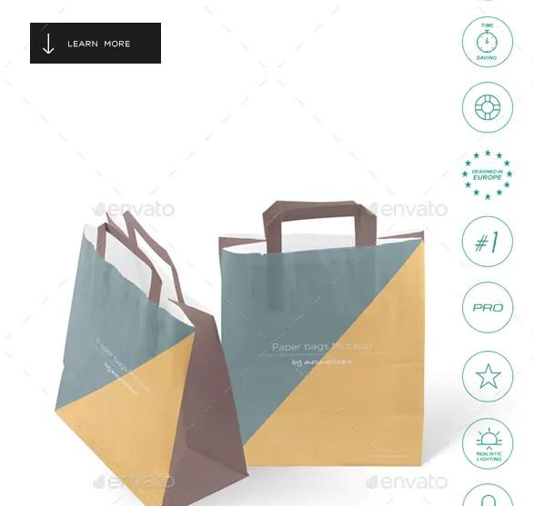 Premium Paper Bag Mockup PSD