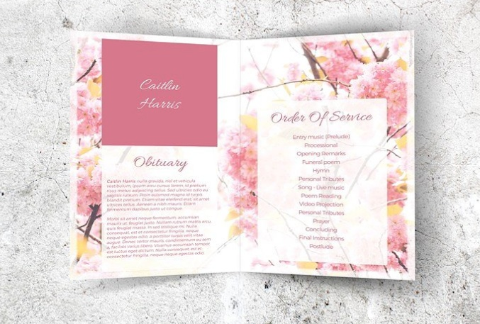 Printable Funeral Brochure Template