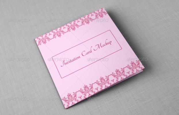 Printable Invitation Card Mockup