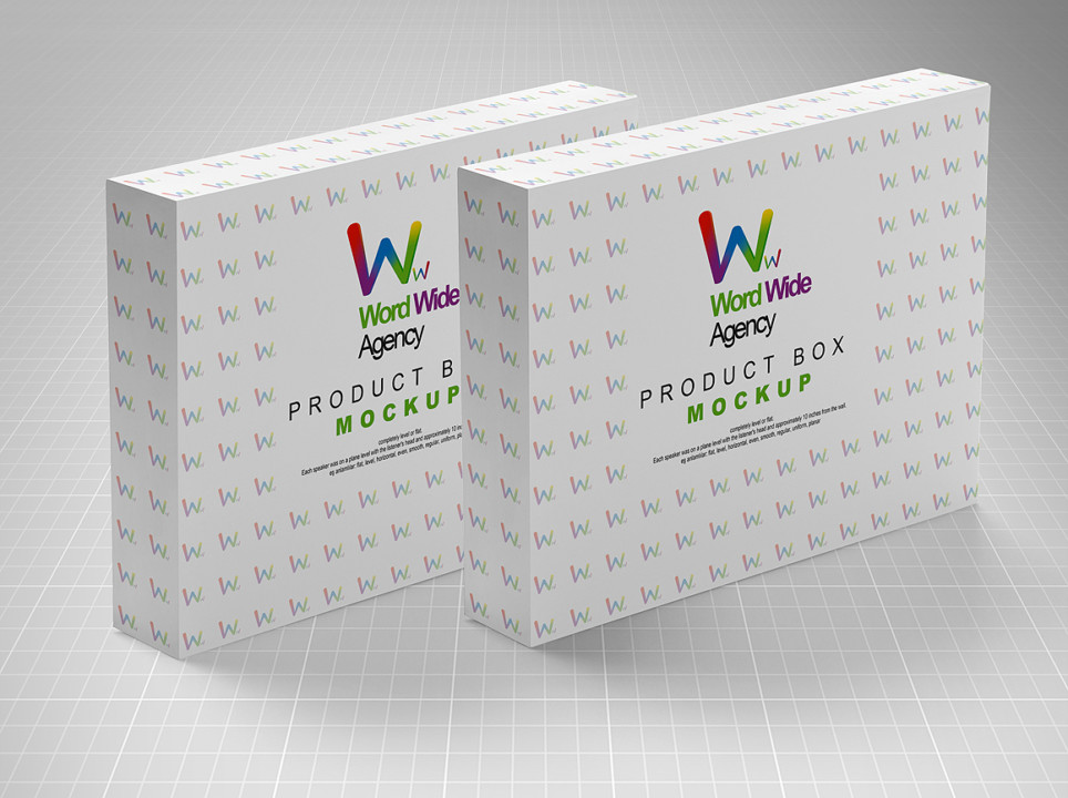 Product Box Mockup PSD