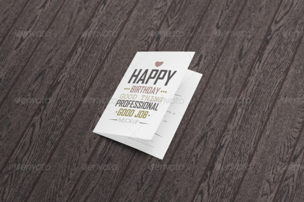 Professional Greeting Card Mockup Template