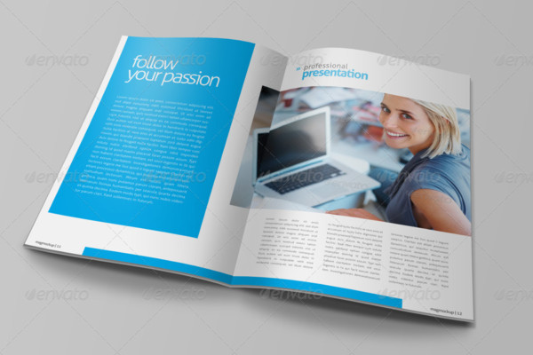 Professional Magazine Mockup PSD