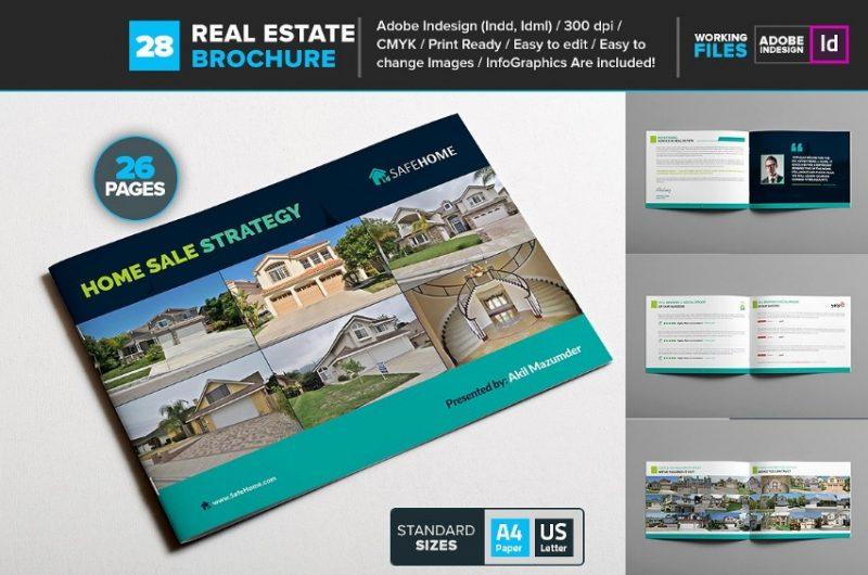 Real Estate Brochure Template Bundle