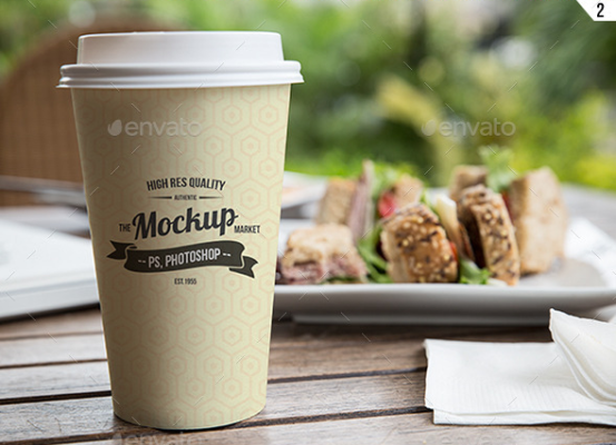 Realistic Cup Mockup Template