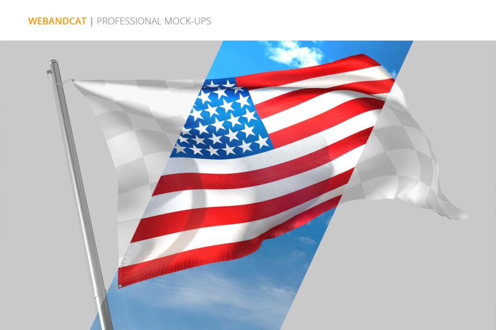 Realistic Flag Mockup