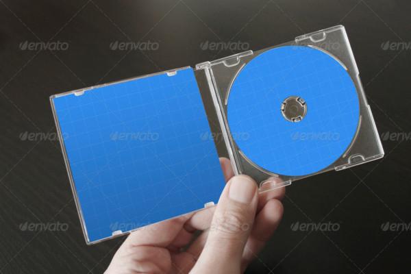 Realistic Mini CD Mockup PSD