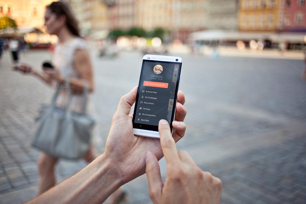 Realistic Mobile Mockup PSD