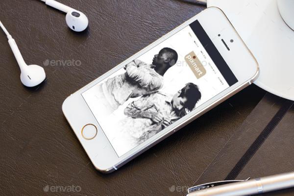 Realistic Mobile PSD Mockup