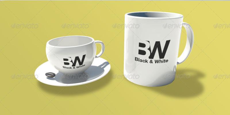 Realistic Mug Mockups Template
