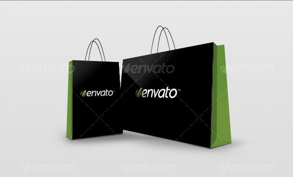 Realistic PSD Shopping Bag Mockup