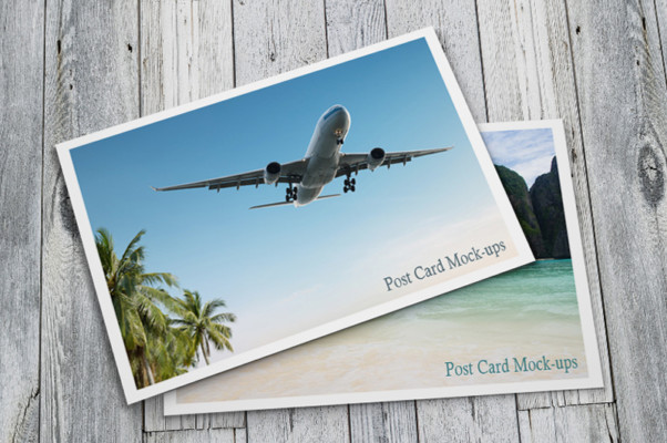 Realistic Post Card Mock-up