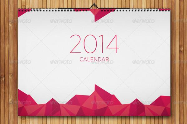 Realistic Wall Calendar Mockup