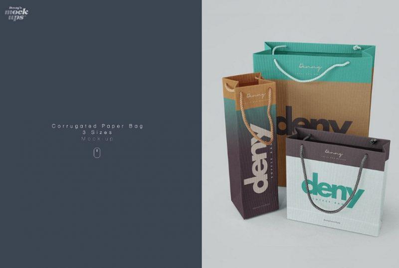 Realistuc Paper Bags Mockup PSD