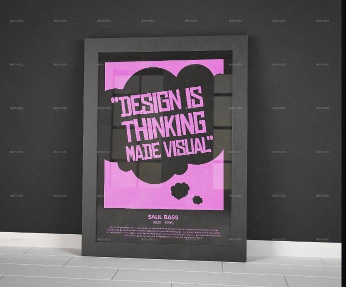 Realstic Poster Frames Mockup