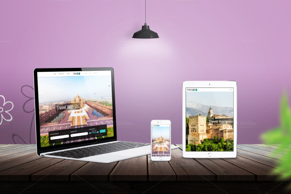 Responsive Devices PSD Mockup