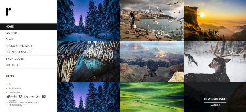 Responsive Fullscreen Portfolio Theme