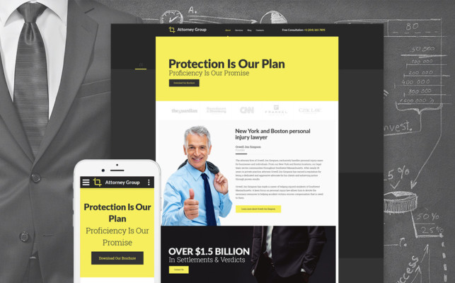 Responsive Law Firm Theme