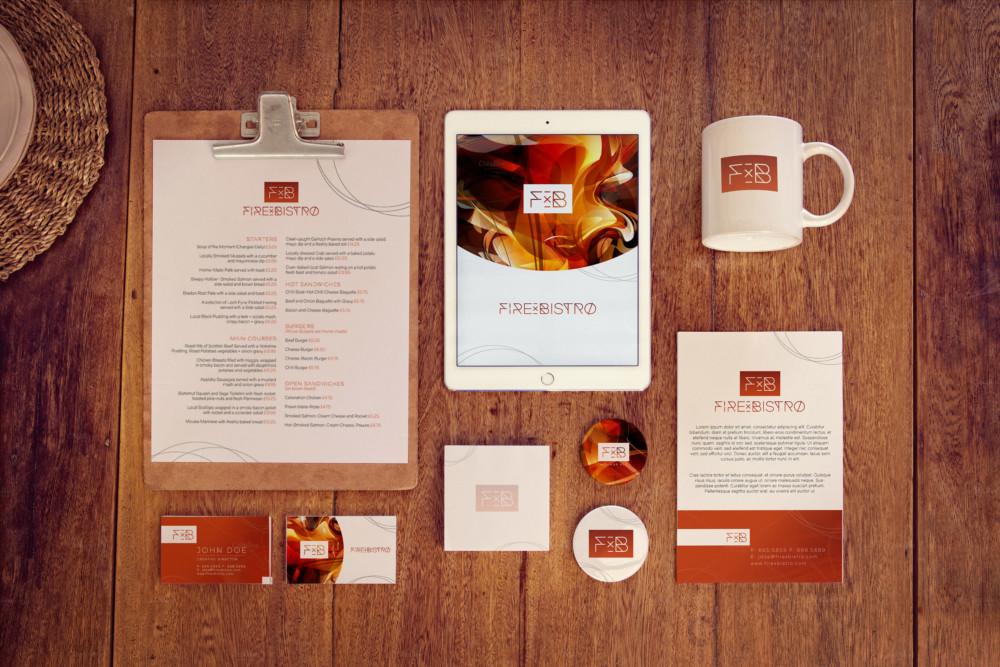 Restaurant Branding Mockup Menu
