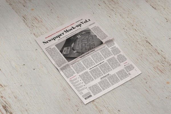 Retro Style Newspaper Mockup template