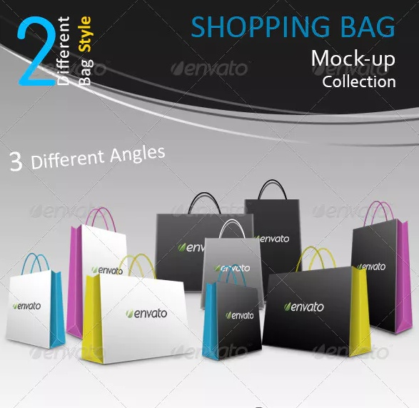 Shopping Bags Mockup PSD