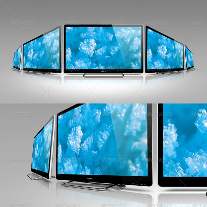 Sleek TV Mockup PSD Template