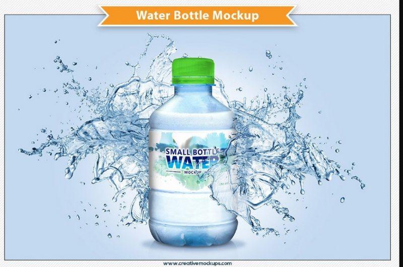 Small Water Bottle Mockup