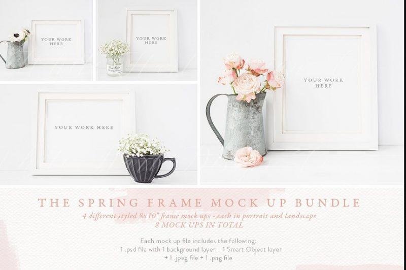 Spring Frame Mockup PSD