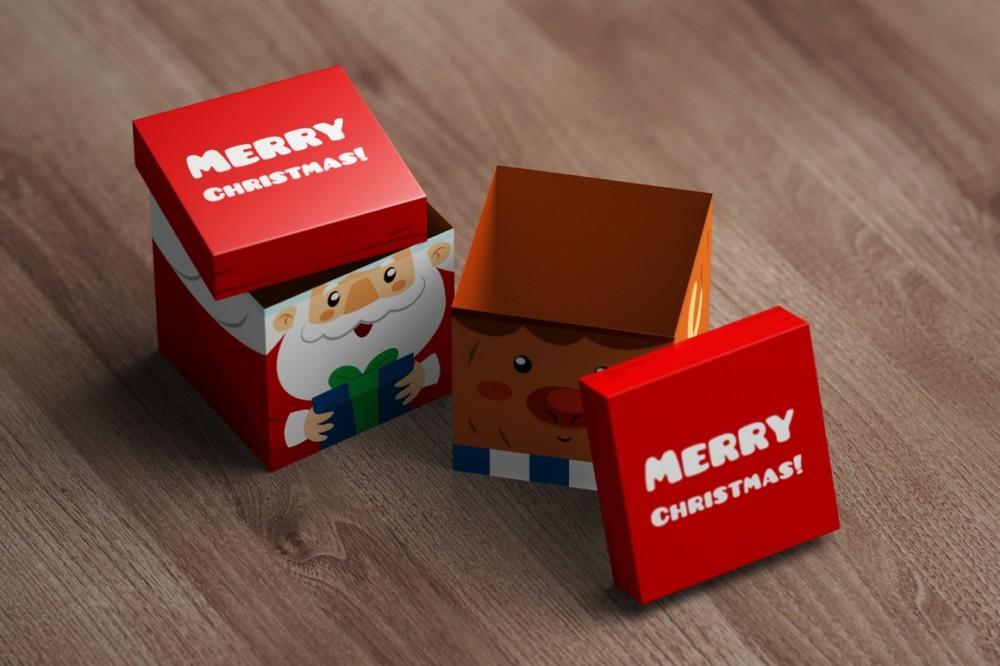 Square Box Mockup Template