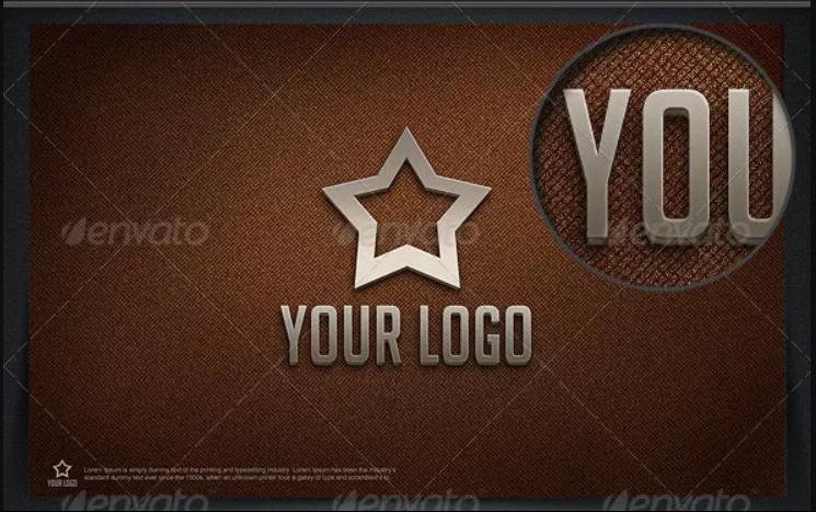 Straight Logo Mockup PSD