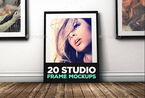 Studio Frame Mockup PSD