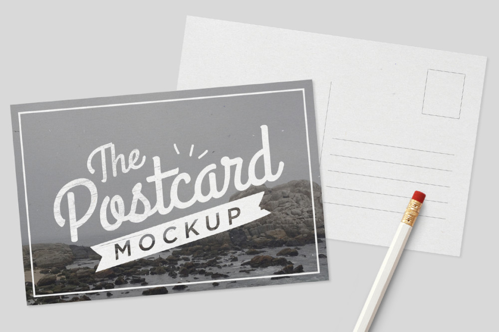Stylish Postcard Mockup Template