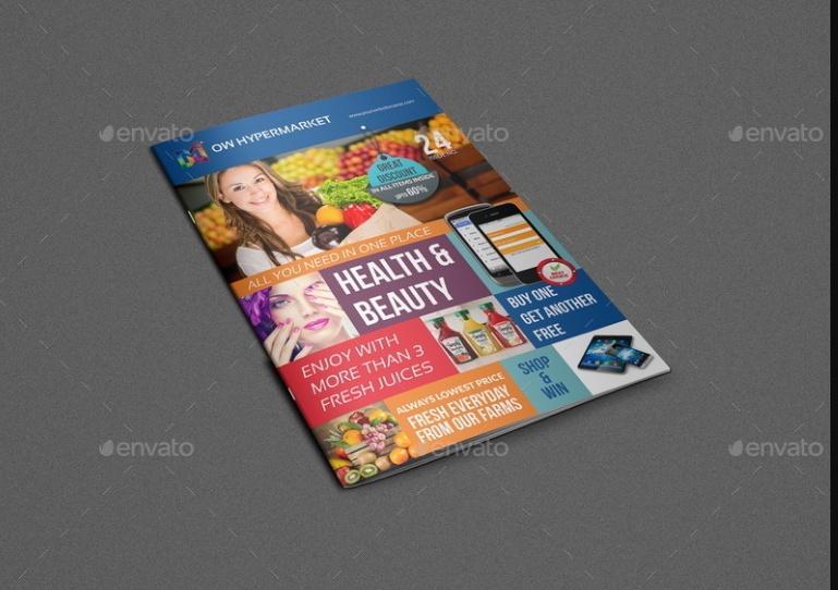 Super Market Brochure Template