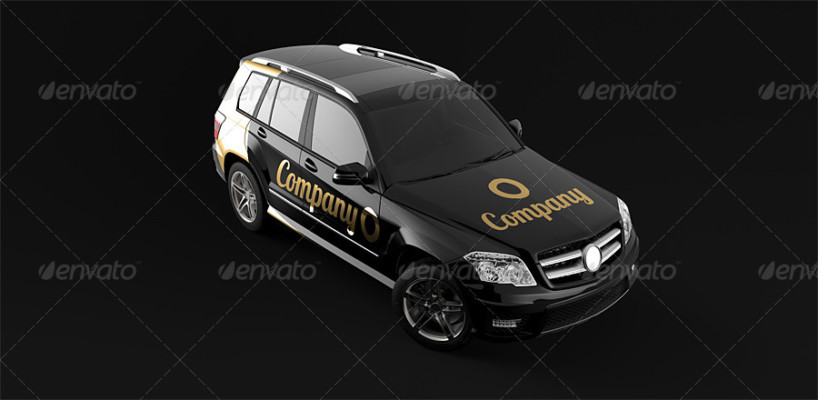 Suv Car Mockup for Branding