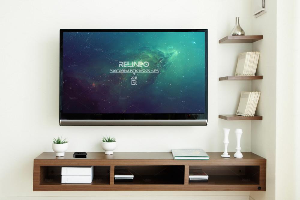 Television Display Mockup PSD