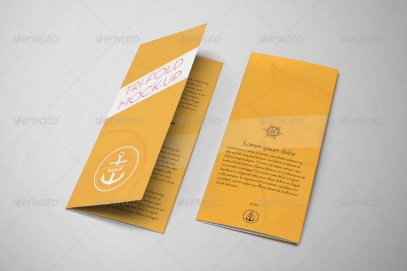 Tri Fold Advertisement Brochure Mockup