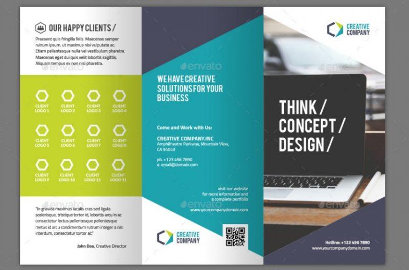 Tri Fold Creative Brochure Template