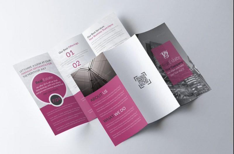 Tri Fold Real Estate Brochure Template