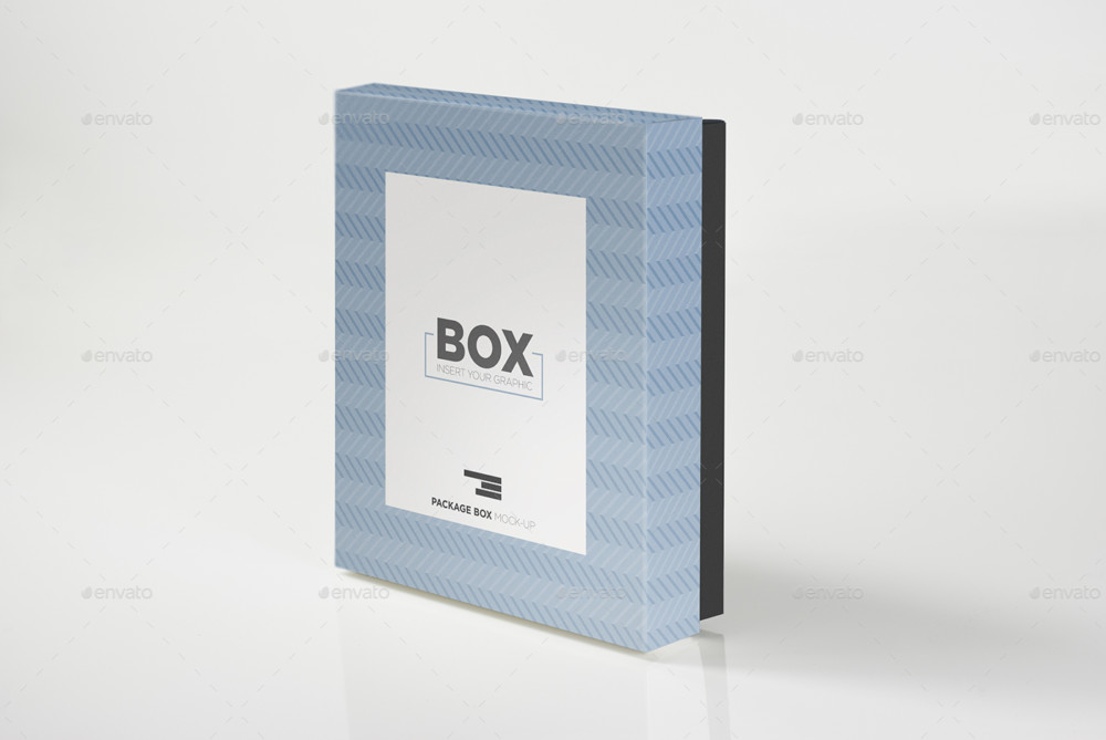 Vertical Box Mockup Template