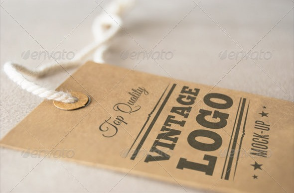 Vintage Apparel Label PSD Mock-up