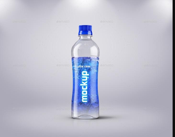 Water Bottle Branding Mockup PSD