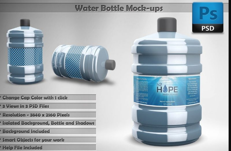 Water Can Mockup