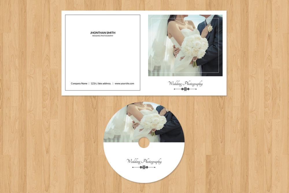 Wedding CD Mockup PSD