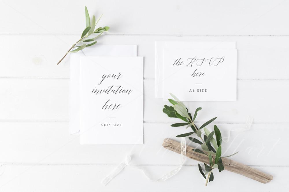 Wedding Invitation Card Mockup Template