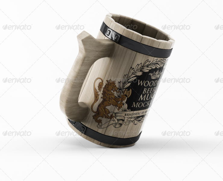Wooden Beer Mug Mock-up best mock-up
