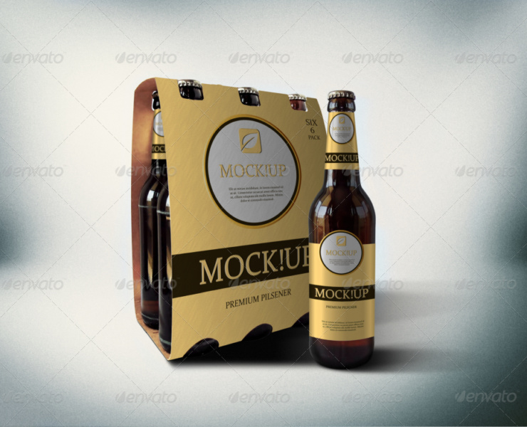amazing beer packaging mock-up realistic mock-up premi