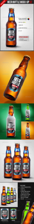 beer bottle mockup amazing bottle mock-up