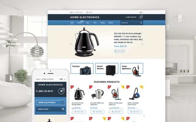 e Commerce Theme for Electronics Store