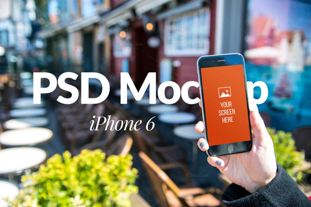 i Phone in Hand Mockup